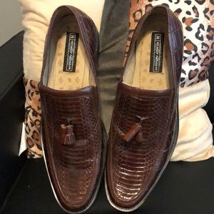 Stacy Adams Brown Snakeskin Dress Shoes